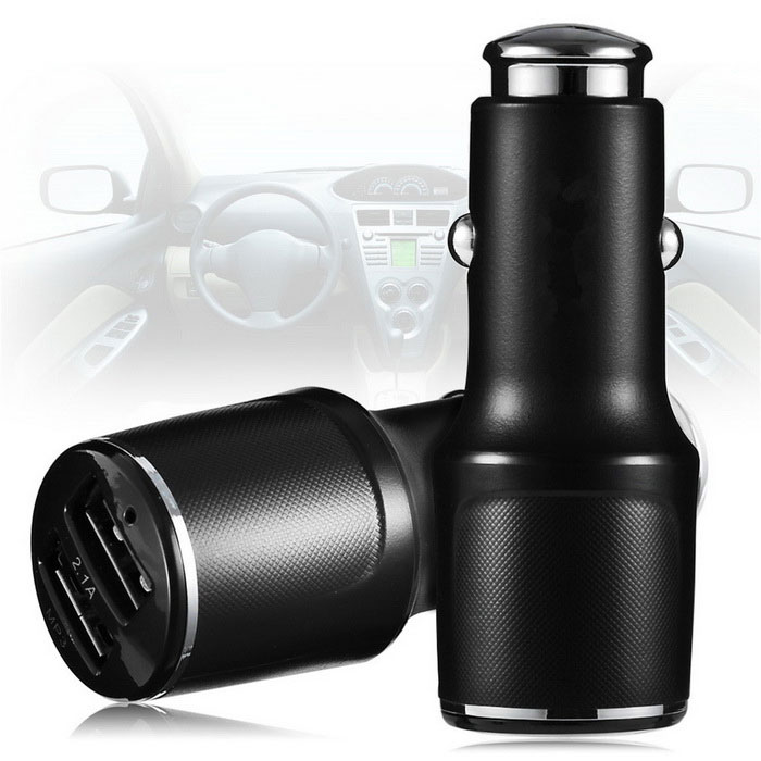 FM Android APP Support Bluetooth Car Charger - Black (5V / 3.1A)