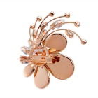 Xinguang Women's Super Flash Jade Flower Style Brooch - Rose Gold