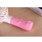 Lovely Rabbit Style Mini Handheld 2-Mode tuulettimen - Pink