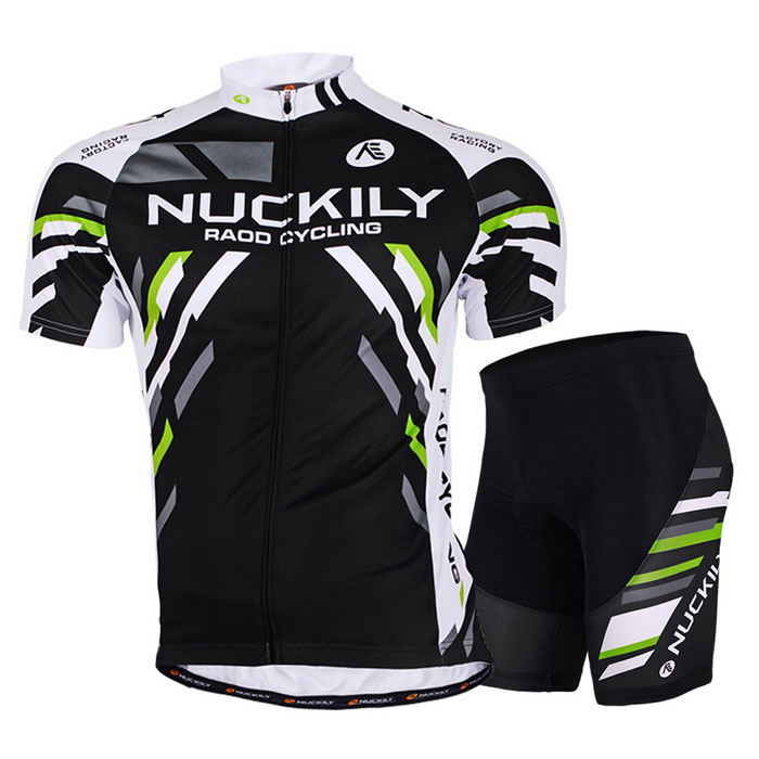 NUCKILY Outdoor Sports Men's Summer Mountain Bike Cycling Quick-drying Polyester Suit