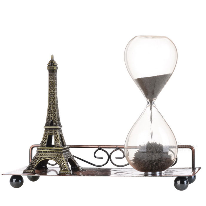 H-012 Eiffel Tower Style Magnetic Sand Clock - Bronze for sale in Bitcoin, Litecoin, Ethereum, Bitcoin Cash with the best price and Free Shipping on Gipsybee.com