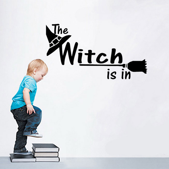 Removable DIY 3D Witch Alphabet Wall Sticker - Black