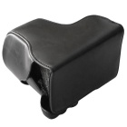 PU Leather Camera Case Bag for Sony NEX-7/A6000 Camera - Black