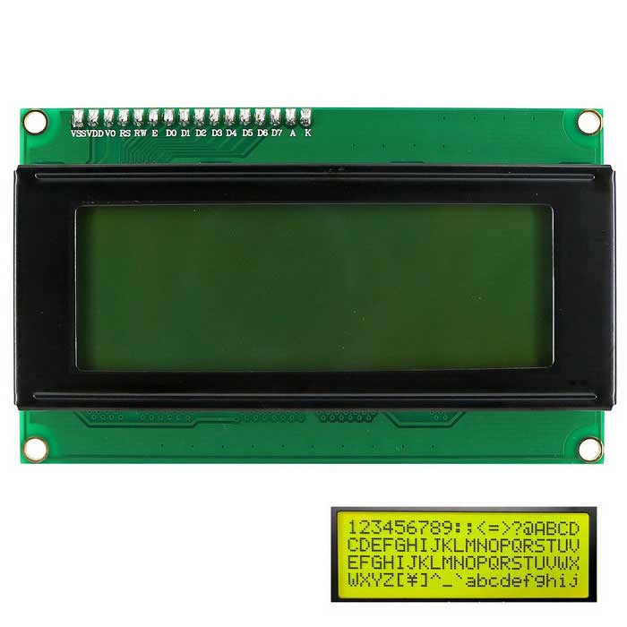 OPEN-SMART I2C / IIC LCD 2004 Gul-grön Display Modul för Arduino