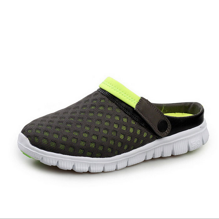 Buy Men's Air-mesh Beach Leisure Sandals Shoes - Fruit Green (Pair / 43) with Litecoins with Free Shipping on Gipsybee.com