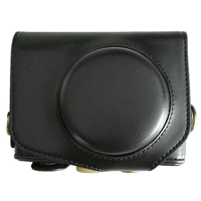 PU Leather Camera Case Bag for Canon GX7 Camera - Black