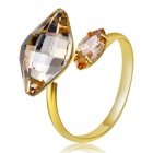 Xinguang Women's Eternal Romantic Crystal Decorated Ring - Gold