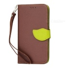 Leaf Style Flip Open PU Case w/ Stand, Lanyard for Redmi Note3 - Brown