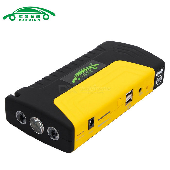 Buy CARKING 16800mAh Car Jump Starter Power Bank LED - Yellow + Black with Litecoins with Free Shipping on Gipsybee.com
