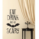 Avtagbar DIY 3D Bat Alphabet Wall Sticker - Svart