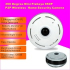 960P Cylindric Network HD 360 Degree Fisheye P2P Wi-Fi IP Camera