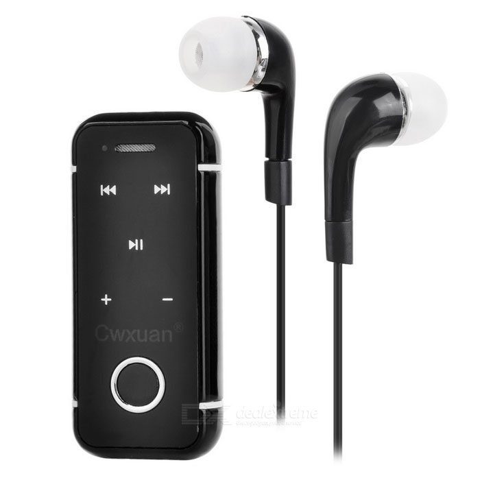 Cwxuan Clip-on Bluetooth V4.1 Headset w/ Earphone Set - Black