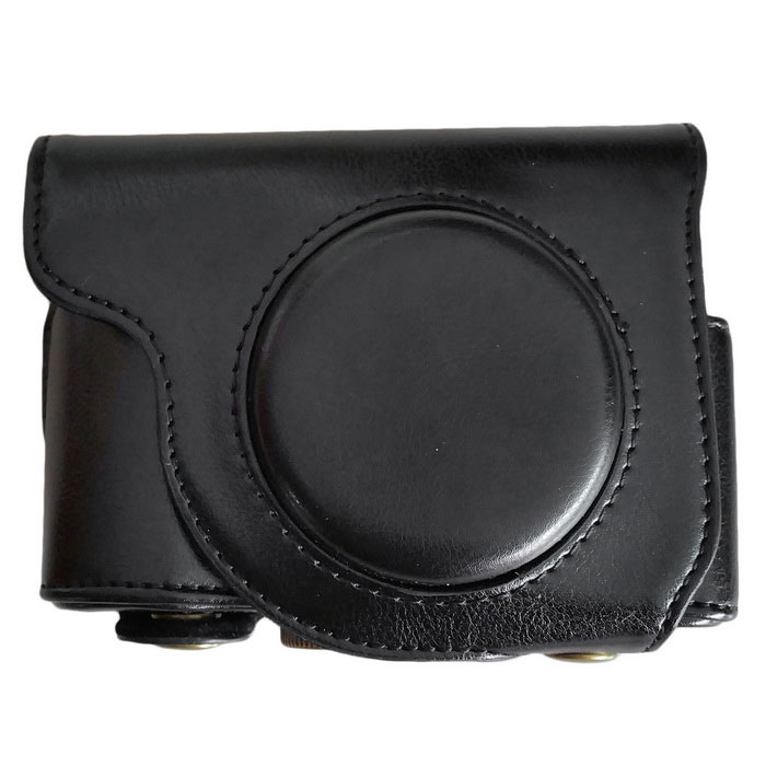 PU Leather Camera Case Bag for Olympus SH2 SH1 Camera - Black