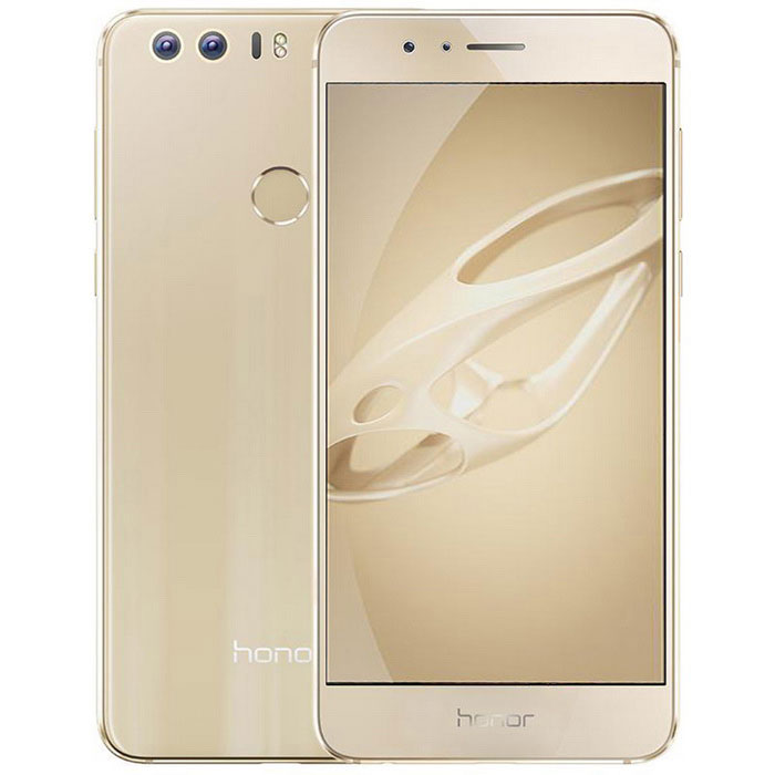 Huawei Honor 8 Twin FRD-AL00 4G 5.2 Phone w/ 4GB RAM, 64GB ROM - GoldAndroid Phones<br>Form  ColorGolden (Universal Version)RAM4GBROM64GBBrandHUAWEIModelHonor8 FRD-AL10Quantity1 DX.PCM.Model.AttributeModel.UnitMaterialMetal + glassShade Of ColorGoldTypeBrand NewPower AdapterUS PlugHousing Case MaterialMetal + glassTime of Release2016-07-27Network Type2G,3G,4GBand DetailsMain card:TDD-LTEB38/B39/B40/B412555MHz~2655MHzFDD-LTEB1/B3/B4/B7TD-SCDMAB34/B39WCDMAB1/B2/B4/B5/B8CDMA2000/1XBC0800MHzGSM850/900/1800/1900MHz Vice card: GSM850/900/1800/1900MHzData TransferGPRS,LTENetwork ConversationOne-Party Conversation OnlyWLAN Wi-Fi 802.11 a,b,g,n,acSIM Card TypeNano SIMSIM Card Quantity2Network StandbyDual Network StandbyGPSBDSNFCYesInfrared PortYesBluetooth VersionBluetooth V4.2Operating SystemAndroid 6.0CPU Processor4*Cortex A72 2.3GHz + 4*Cortex A53 1.8GHz + Micro-core I5CPU Core QuantityOcta-CoreGPUMali T880LanguageEnglish, Simplified Chinese, Traditional Chinese, Dutch, Indonesian, Malay, Persian, Danish, German, Estonian, Spanish, French, Zulu, Italian, Swahili, Latvian, Lithuanian, Hungarian, Norwegian, Polish, Portuguese, Romansh, Slovak, Vietnamese, Turkish, Russian, Arabic, Korean, JapaneseAvailable Memory54GBMemory CardmicroSD TFMax. Expansion Supported128GBSize Range5.0~5.4 inchesTouch Screen TypeOthers,LTPS LCD display negativeScreen Resolution1920*1080Multitouch10Screen Size ( inches)Others,5.2Screen Edge2.5D Curved EdgeCamera PixelOthers,12MP * 2Front Camera Pixels8 DX.PCM.Model.AttributeModel.UnitVideo Recording Resolution3968 * 2976FlashYesAuto FocusSupport (contrast focus, depth of focus assist, laser focus assist), digital zoom, up to 4X digital zoomTouch FocusYesOther Camera FunctionsSupport: food, slow-motion, 3D dynamic panoramic photograph large aperture, shutter streamer (including heavy traffic, light painting graffiti, silk water, gorgeous Xinggui), Super Night, professional camera, professional video camera skin (charm me) , skin video, panorama, HDR, watermark, audio photographs, put out screen snapshots, smile capture, voice-activated camera, regular camera, touch to take pictures, documents corrected, CS preferred, time-lapse photography, etc.Other Camera Features12MP*2, 6P lens group, F2.2. Note: Different camera models photo pixels vary; Deputy camera 8MP, F2.4, fixed focus. Note: Different camera models photo pixels varyTalk Time20 DX.PCM.Model.AttributeModel.UnitStandby Time60 DX.PCM.Model.AttributeModel.UnitBattery Capacity3000 DX.PCM.Model.AttributeModel.UnitBattery ModeNon-removableQuick ChargeNOfeaturesWi-Fi,GPS,Bluetooth,NFCSensorG-sensor,Fingerprint authentication sensor,Others,Light sensor, proximity sensor, an infrared sensor, a fingerprint sensor, a Hall sensor, gyroscope, compass, NFCWaterproof LevelIPX0 (Not Protected)Dust-proof LevelNoShock-proofNoI/O InterfaceUSB Type-cSoftwareGoogle StoreFormat Supported3gp, mp4, wmv, rm, rmvb, asf, mp3, wma, ogg, amr, aac, flac, wav, midi, raJAVANoTV TunerNoRadio TunerNoWireless ChargingNoReference Websites== Will this mobile phone work with a certain mobile carrier of yours? ==Packing List1 * Cell phone1 * Type-C Cable (100cm)1 * Charger (US plug / 100~240V/5V 1A)1 * English user manual<br>