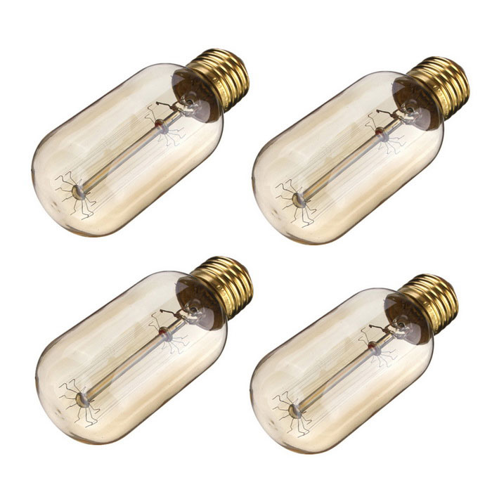 E27 T45 40W Vintage Edison Tungsten Filament Bulbs Warm White (4PCS)