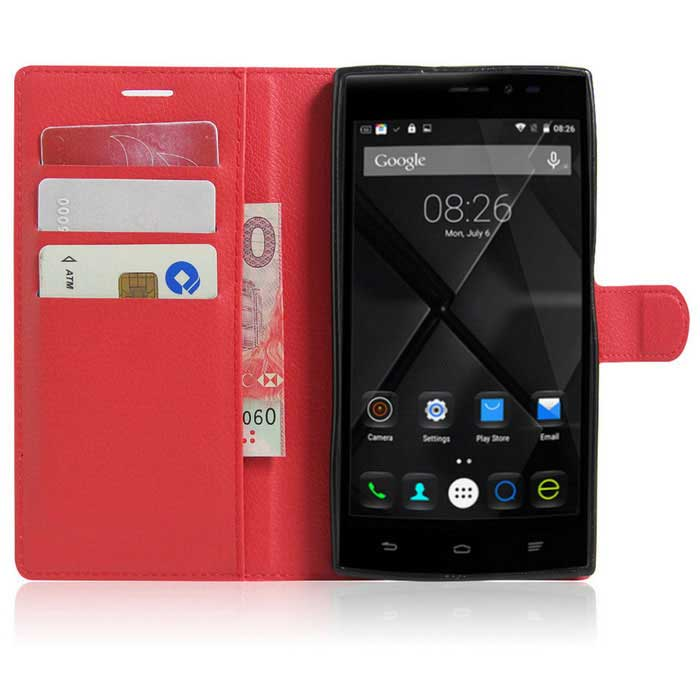 ... Lichee Pattern Protective Case for Doogee F5 - Red ...