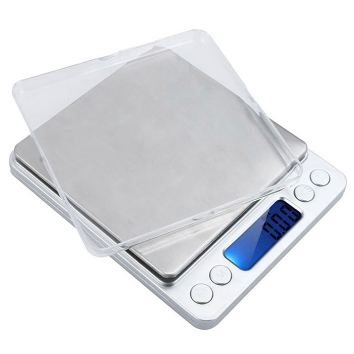 "Mini Electronic 2.5"" Digital Jewelry Scale - Silver (0.1g / 2000g)"