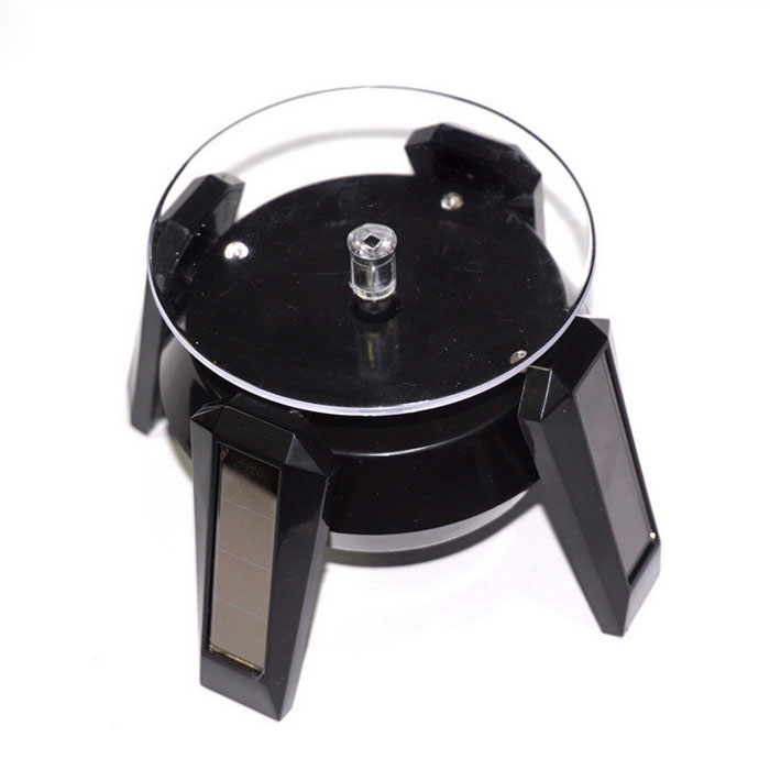Buy Solar Light Emitting Display Rotating Metal Jigsaw Puzzles - Black with Litecoins with Free Shipping on Gipsybee.com