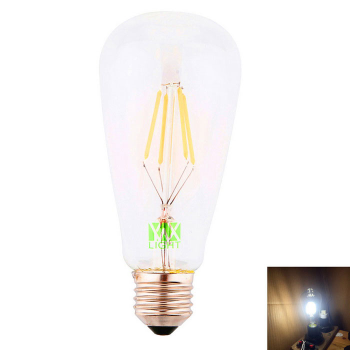 YWXLight E27 4-COB ST64 LED Filament Bulb