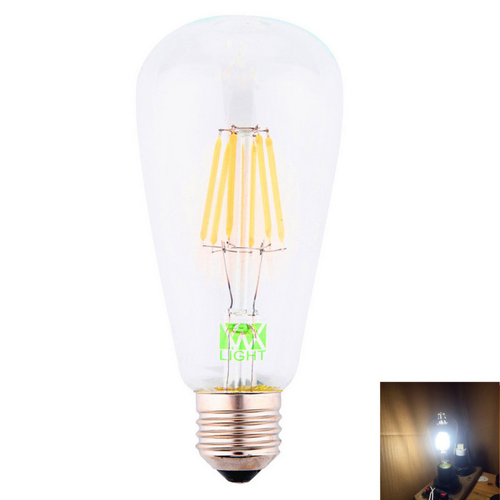 YWXLight E27 6-COB ST64 LED Filament Bulb