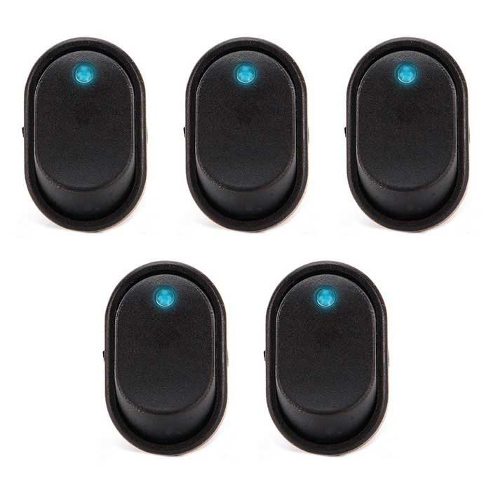 Buy IZTOSS S357BL-5-Z Toggle Switches w/ Sapphire Blue LED (5PCS) with Litecoins with Free Shipping on Gipsybee.com