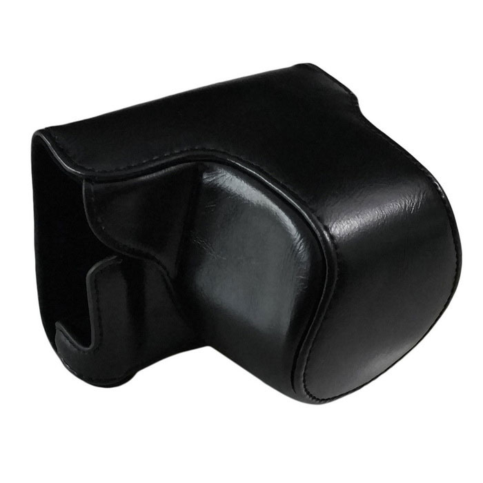 PU Leather Camera Case Bag for Panasonic GM5 GM1 Camera - Black