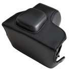 PU Leather Camera Case Bag for Olympus EPL7 Mini DSLR - Black