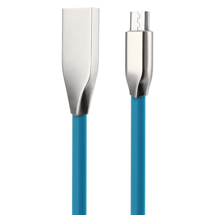 Zinc Alloy Micro USB / USB 2.0 Data Cable for Samsung / Xiaomi / HTCCables<br>Form  ColorBlueMaterialZinc alloy + PVCQuantity1 DX.PCM.Model.AttributeModel.UnitCompatible ModelsMicro USB mobile phonesCable Length90 DX.PCM.Model.AttributeModel.UnitConnectorUSB 2.0Split adapter number1Packing List1 * Cable (90cm)<br>