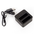 USB Powered Battery Charger for XIAOMI YI 4K Sports Camera 2 - Black