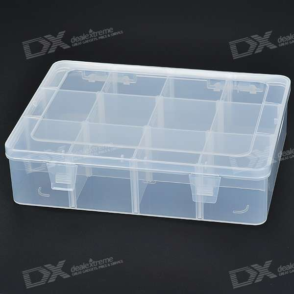 12 Compartment Plastic Storage Box For Electronic