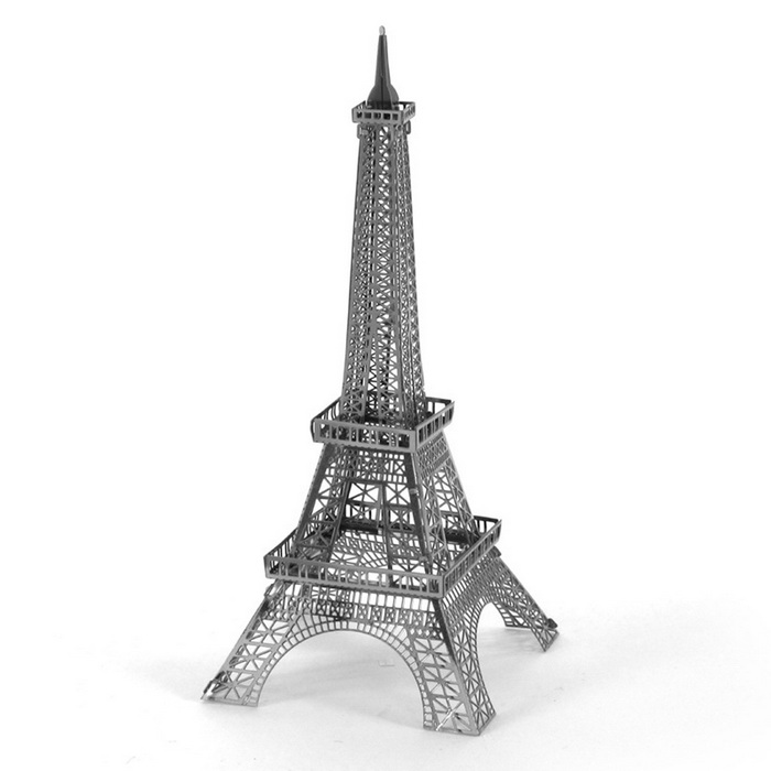 DIY 3D Puzzle Assembled Model Toy Tower - SilverBlocks &amp; Jigsaw Toys<br>Form  ColorSilverMaterialStainless steelQuantity1 DX.PCM.Model.AttributeModel.UnitNumber1Size10.8*4.4*4.4cmSuitable Age 5-7 years,8-11 years,12-15 years,Grown upsPacking List1 * Model  boards<br>