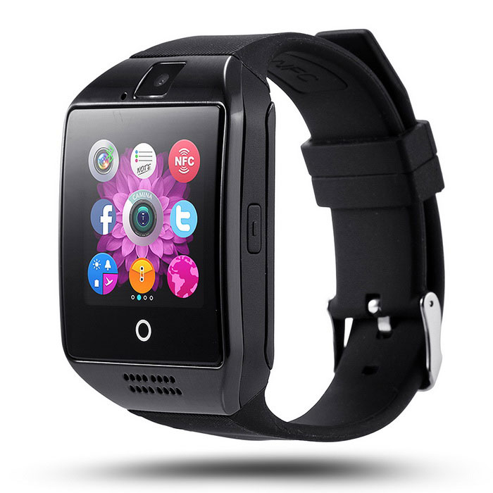 Eastor Bluetooth Smart Watch Q18 Støtte SIM GSM Kamera - Svart