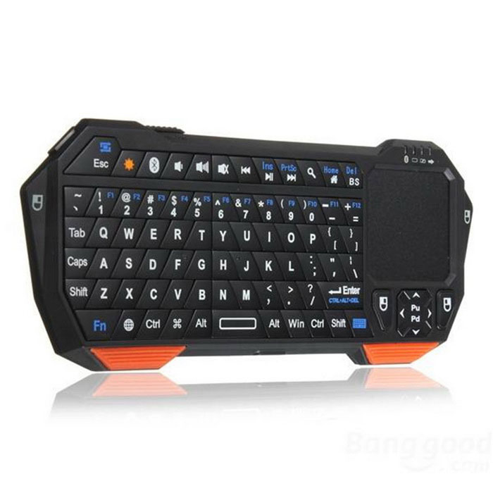 Buy BT05 Wireless Bluetooth Keyboard Mini Touch Phone Keyboard - Black with Litecoins with Free Shipping on Gipsybee.com