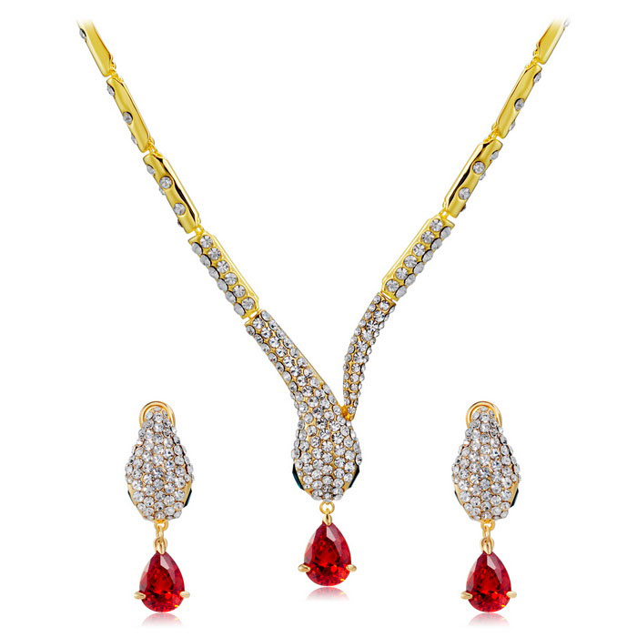 Xinguang-Womens-Cool-Snake-Shaped-Rhinestones-Decorated-Necklace-Set