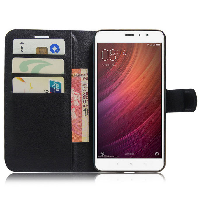 ... Flip-up PU Leather Wallet Cases w/ Card Slots for Redmi Note 4 ...