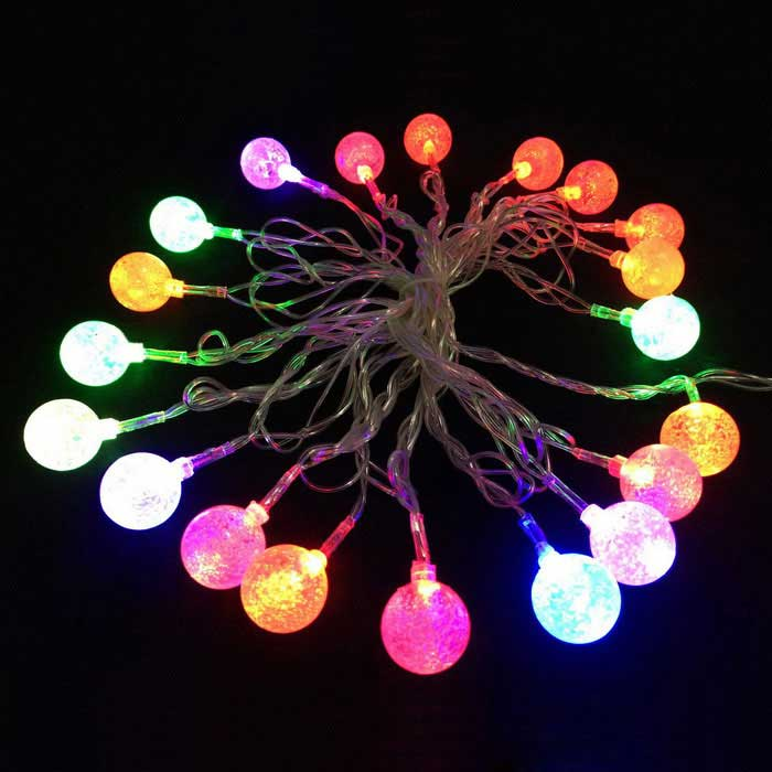 15.7ft LED Color Changing 20-LED Ice Ball Twinkle Light String (110V)