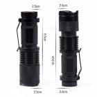 YouOKLight Waterproof 3W 300lm 3-Mode Bike Flashlight Cold White