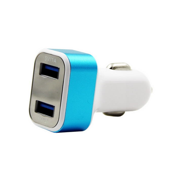 C59 3.1A Intelligent Dual USB Car Charger w/Voltage Monitoring Display