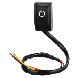 Jtron Car DIY Switch Paste Type Button Switch OFF/ON DC 12V/200mA