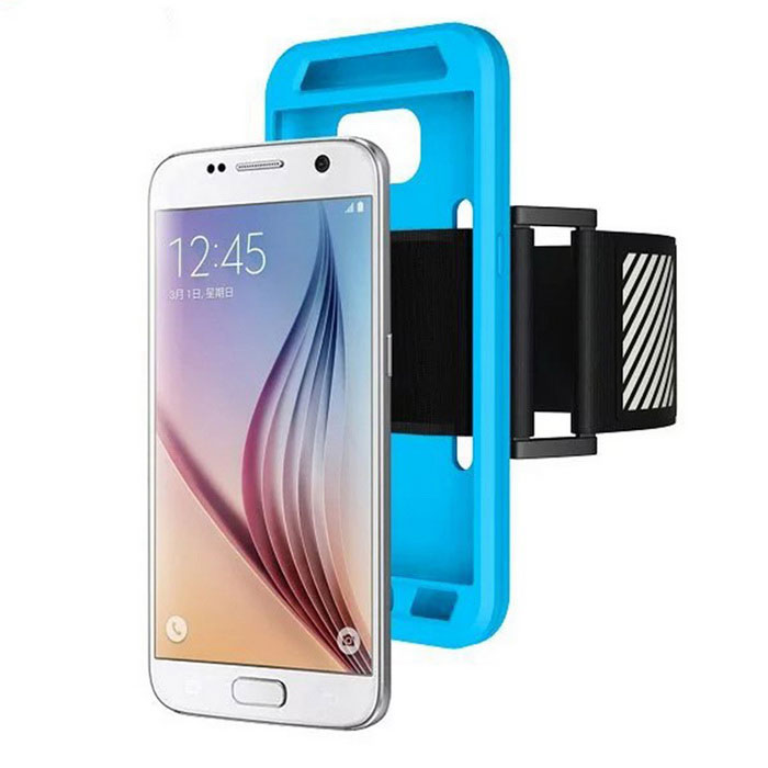 Easy Fitting Sport Running Armband Case For Samsung Galaxy S7 EdgeArmbands &amp; Wristbands<br>Form  ColorBlue + BlackModelN/AMaterialPolyester fiber +siliconQuantity1 DX.PCM.Model.AttributeModel.UnitShade Of ColorBlueCompatible ModelsGALAXY S7 edgeBand Length37 DX.PCM.Model.AttributeModel.UnitPacking List1 * Silicone case1 * Armband<br>