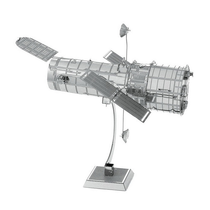 DIY 3D Puzzle Assembled Model Toy Hubble Space Telescope - SilverBlocks &amp; Jigsaw Toys<br>Form  ColorSilverMaterialStainless steelQuantity1 DX.PCM.Model.AttributeModel.UnitNumber1Size7.6*8.2*3.1cmSuitable Age 5-7 years,8-11 years,12-15 years,Grown upsPacking List2 * Model  boards<br>
