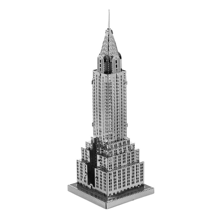 DIY 3D Puzzle Assembled Model Toy Chrysler Building - SilverBlocks &amp; Jigsaw Toys<br>Form  ColorSilverMaterialStainless steelQuantity1 DX.PCM.Model.AttributeModel.UnitNumber1Size8.5*3*3cmSuitable Age 5-7 years,8-11 years,12-15 years,Grown upsPacking List1 * Model  board<br>
