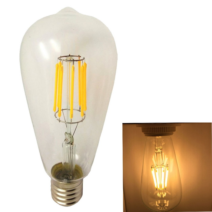 KWB E27 8W Dimmable Warm White 8-LED Filament Bulb