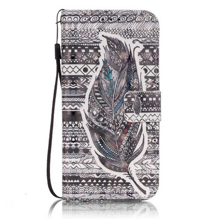 BLCR Tribal Feather 3D Pattern Protective Case for Samsung Galaxy S7Leather Cases<br>Form  ColorGrey + White + Multi-ColoredModelN/AMaterialPU + TPUQuantity1 DX.PCM.Model.AttributeModel.UnitShade Of ColorMulti-colorCompatible ModelsSamsung Galaxy S7FeaturesAnti-slip,Shock-proof,Abrasion resistance,Easy-to-remove,Holder functionPacking List1 * Case1 * Strap<br>