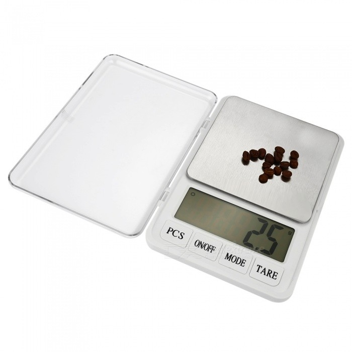 MH-887 6kg/0.1g  4.5 High-Quality Kitchen / Medicine Scale - WhiteDigital Scales<br>Form  ColorWhiteModelMH-887Quantity1 DX.PCM.Model.AttributeModel.UnitMaterialStainless steel + ABS plasticTypeKitchen ScaleScreen Size4.5 inchesMax. Weight6kgMin. Weight0.1gUnitg,kg,ct,lb,ozDivision0.1gAuto Power OffNoPowered ByAA BatteryBattery Number2Battery included or notNoPacking List1 * Scale1 * Chinese / English user manual<br>