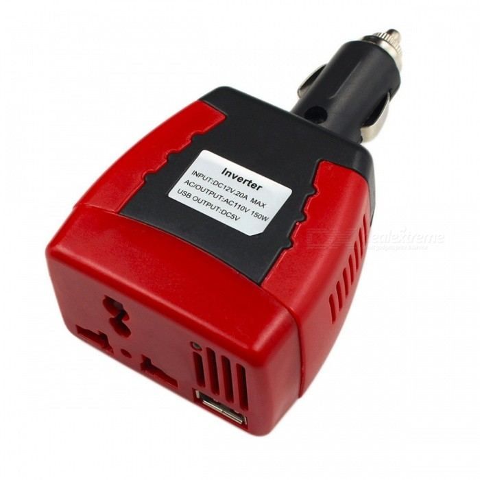 Multifunction DC 12V to AC 220V Car Mobile Converter 150W Car Inverter