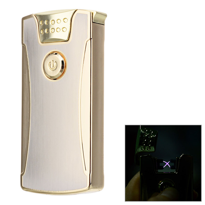 Maikou USB Double Arc Cigarette Lighter- GoldenOther Lighters<br>Form  ColorGoldenMaterialStainless steelQuantity1 DX.PCM.Model.AttributeModel.UnitShade Of ColorGoldTypeUSBWindproofYesPower SupplyRechargeable batteryCharging Time0.5~1 DX.PCM.Model.AttributeModel.UnitPacking List1 * USB lighter1 * Data cable (16cm)<br>