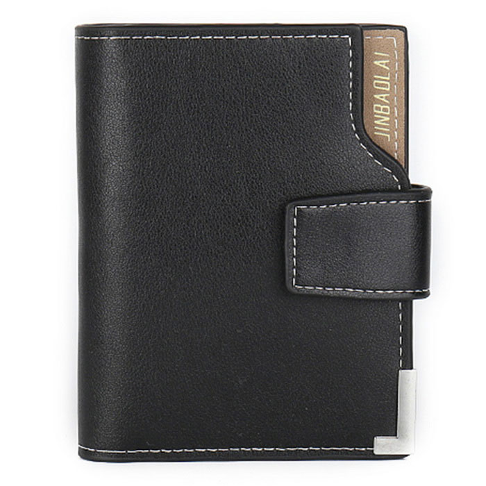 JIN BAO LAI Mens Classic Foldable Leather + PU Wallet - BlackWallets and Purses<br>Form ColorBlackModel212#Quantity1 DX.PCM.Model.AttributeModel.UnitShade Of ColorBlackMaterialLeather + PUGenderMenSuitable forAdultsOpeningHaspStyleFashionWallet Dimensions12.5cm*11cm*1.5cmOther FeaturesBi-fold for men; Wallet with coin pocket; Money wallet / card wallet / money clip wallet.Packing List1 * Wallet<br>