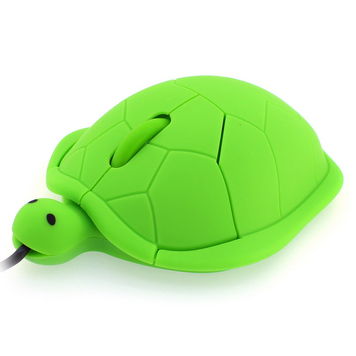 usb 2 0 creative cartoon turtle optical wired computer mouse green