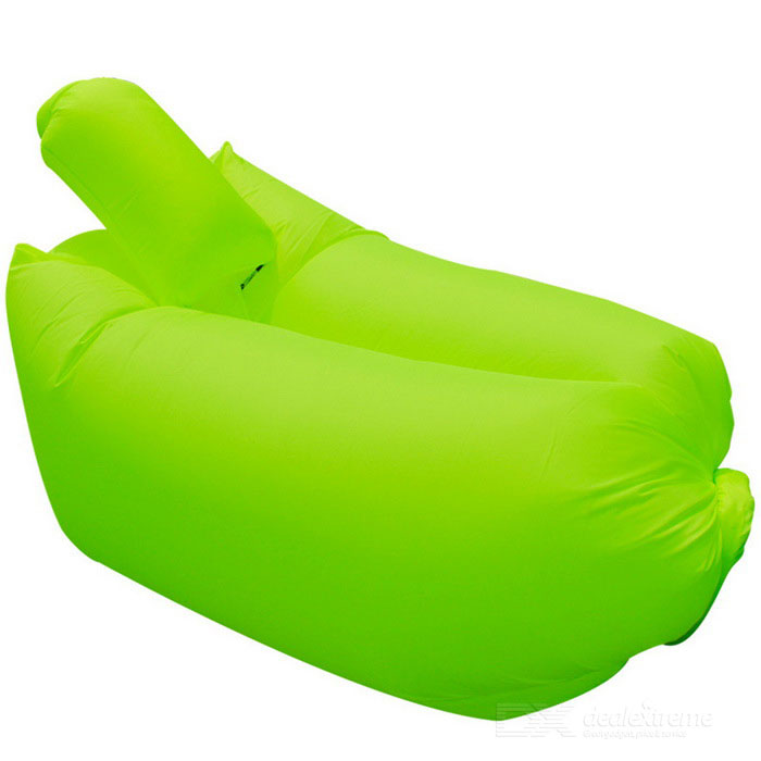 CTSmart Inflatable Sleeping Bag / Sofa w/ Pillow - Fluorescent GreenSleeping Bags<br>Form  ColorFluorescent GreenModel-Quantity1 DX.PCM.Model.AttributeModel.UnitBest UseFamily &amp; car camping,Camping,TravelSeasonsSpring and SummerMaterialWaterproof polyesterSleeping Bag ShapeSemi RectangularTemperature Rating 20~30 DX.PCM.Model.AttributeModel.UnitOther FeaturesMax. bearing: 200kgPacking List1 * Inflatable Sofa1 * Pillow (storage bag)<br>